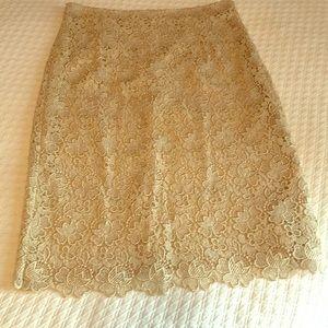 Valentino gold skirt